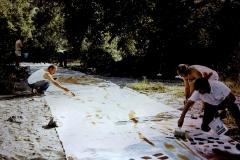 i pittori delle terre al lavoro nel 1982